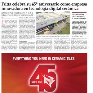 noticia fritta celebra su 45 aniversario
