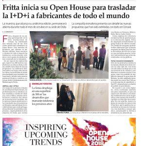 noticia FRITTA inicia su Open House